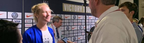 Post Match with USWNT Sam Mewes After 4-0 Win Over Jamaica – 8/29/19